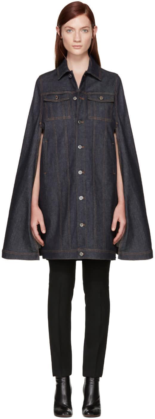 Givenchy Blue Denim Cape Jacket