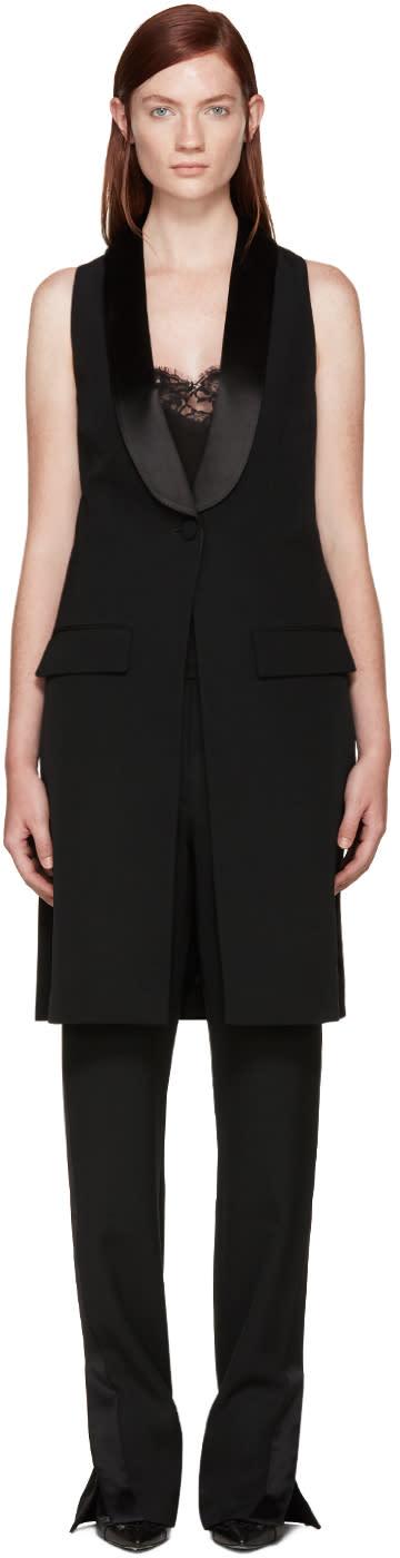Givenchy Black Wool Tuxedo Vest