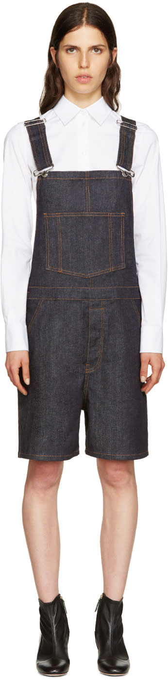 Givenchy Indigo Denim Overalls