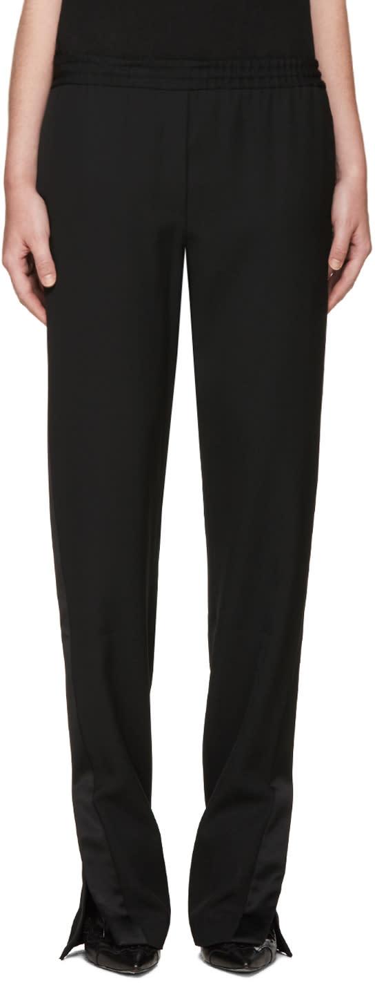 Givenchy Black Satin Trimmed Lounge Pants