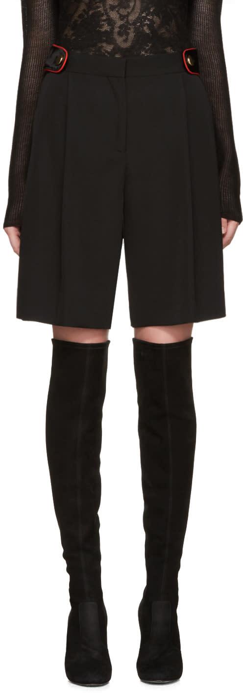 Givenchy Black Wool Shorts