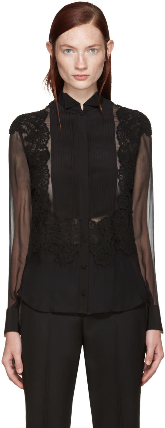 Givenchy Black Silk Shirt