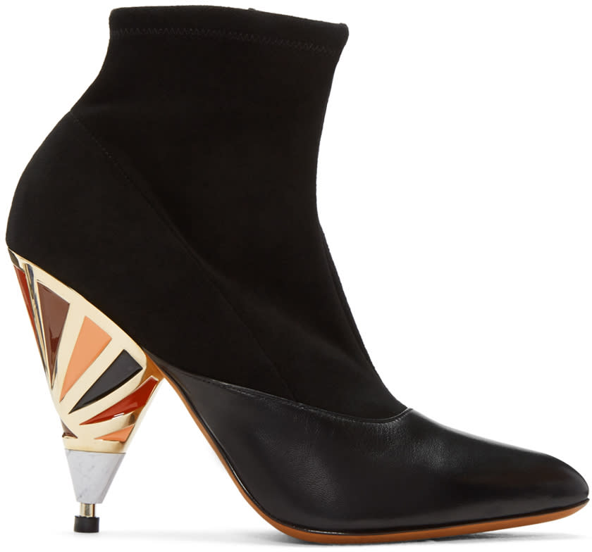 Givenchy Black Prism Heel Boots