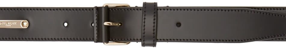 Givenchy Black Leather Logo Belt