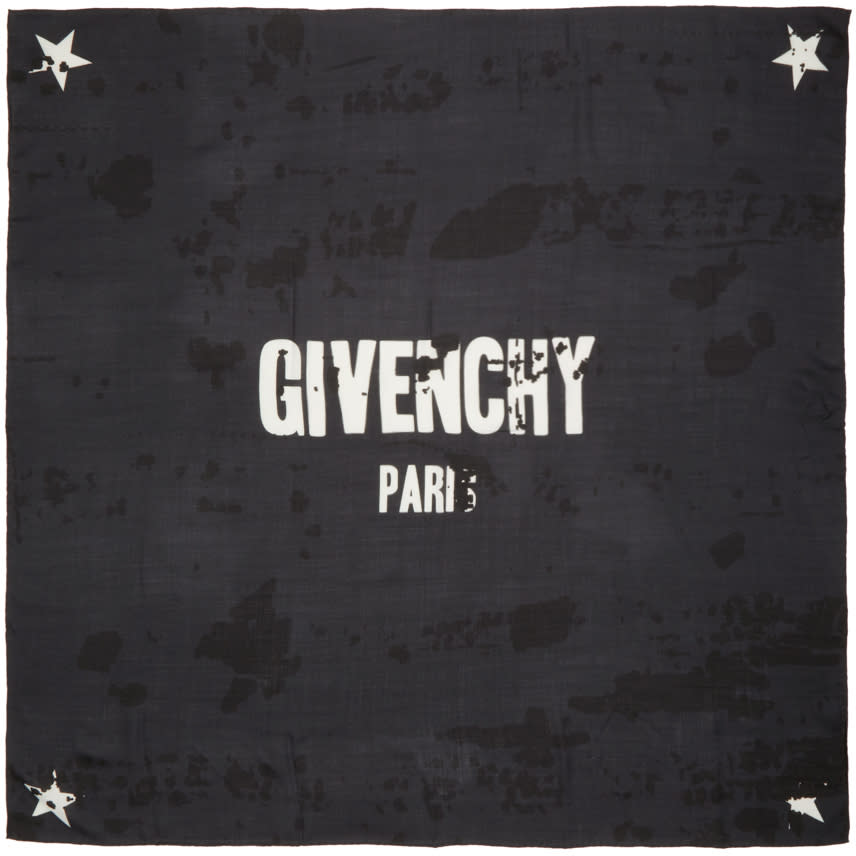 Givenchy Black Logo Scarf