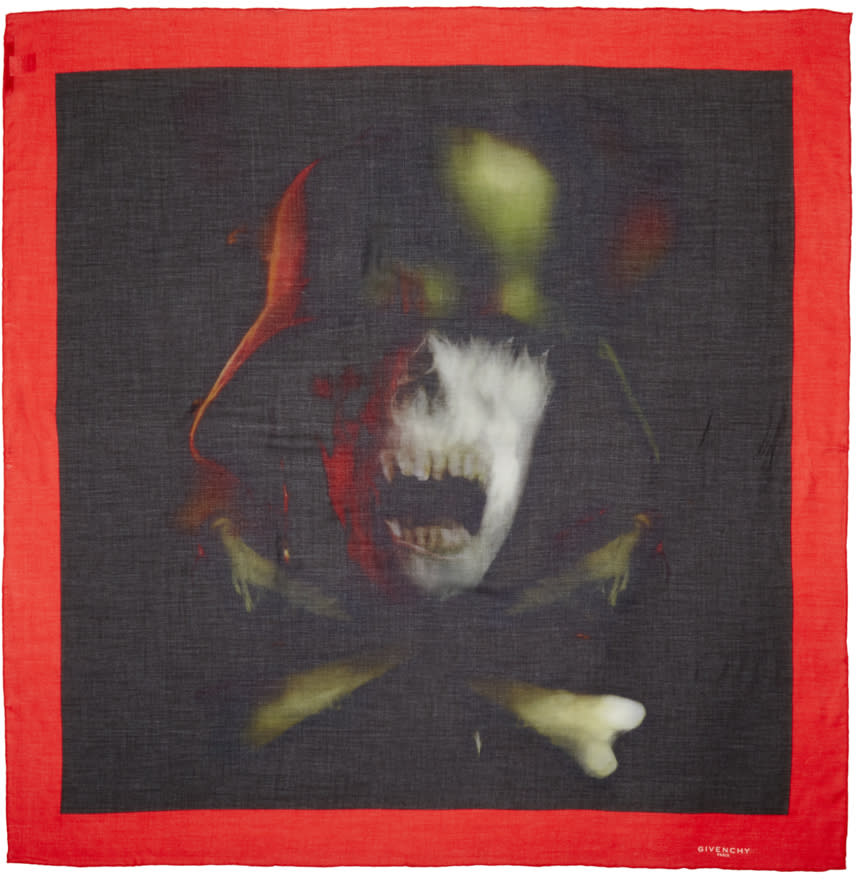 Givenchy Multicolor Skull Scarf