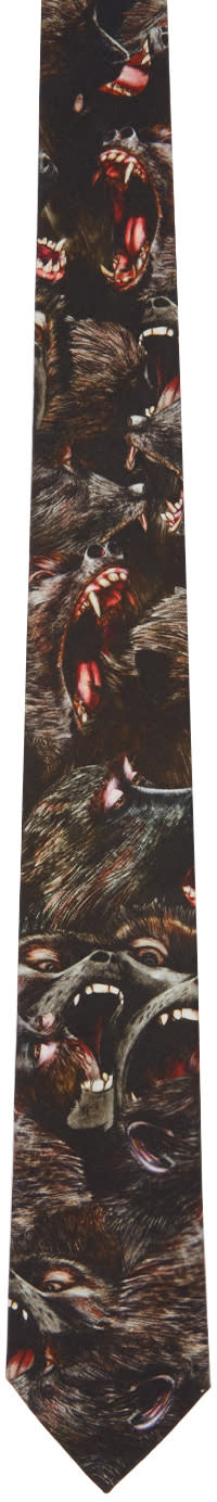 Givenchy Black Monkey Brothers Tie