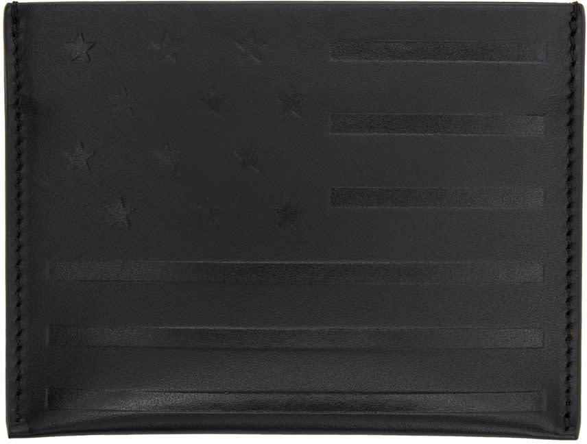 Givenchy Black American Flag Card Holder
