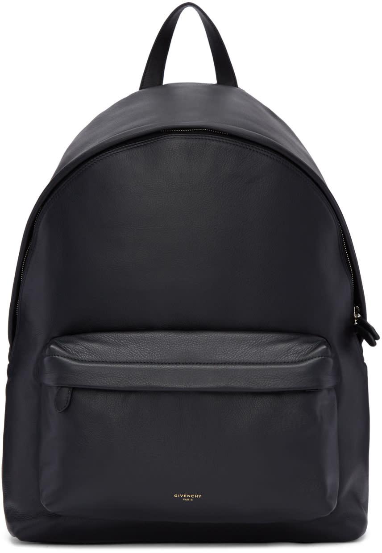 Givenchy ブラック レザー アイコニック バックパック
