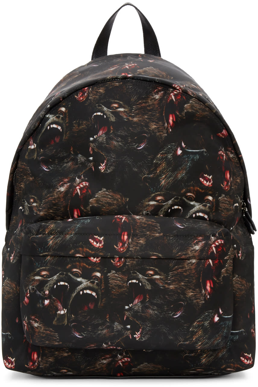 Givenchy Black Nylon Monkey Backpack