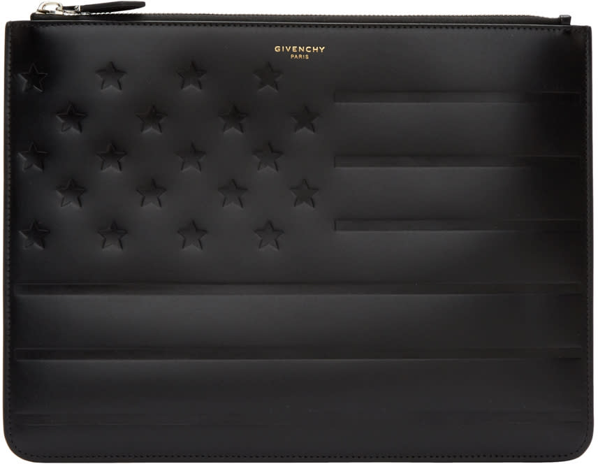 Givenchy Black American Flag Pouch