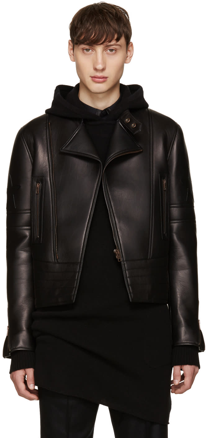 Givenchy Black Leather Iconic Perfecto Jacket