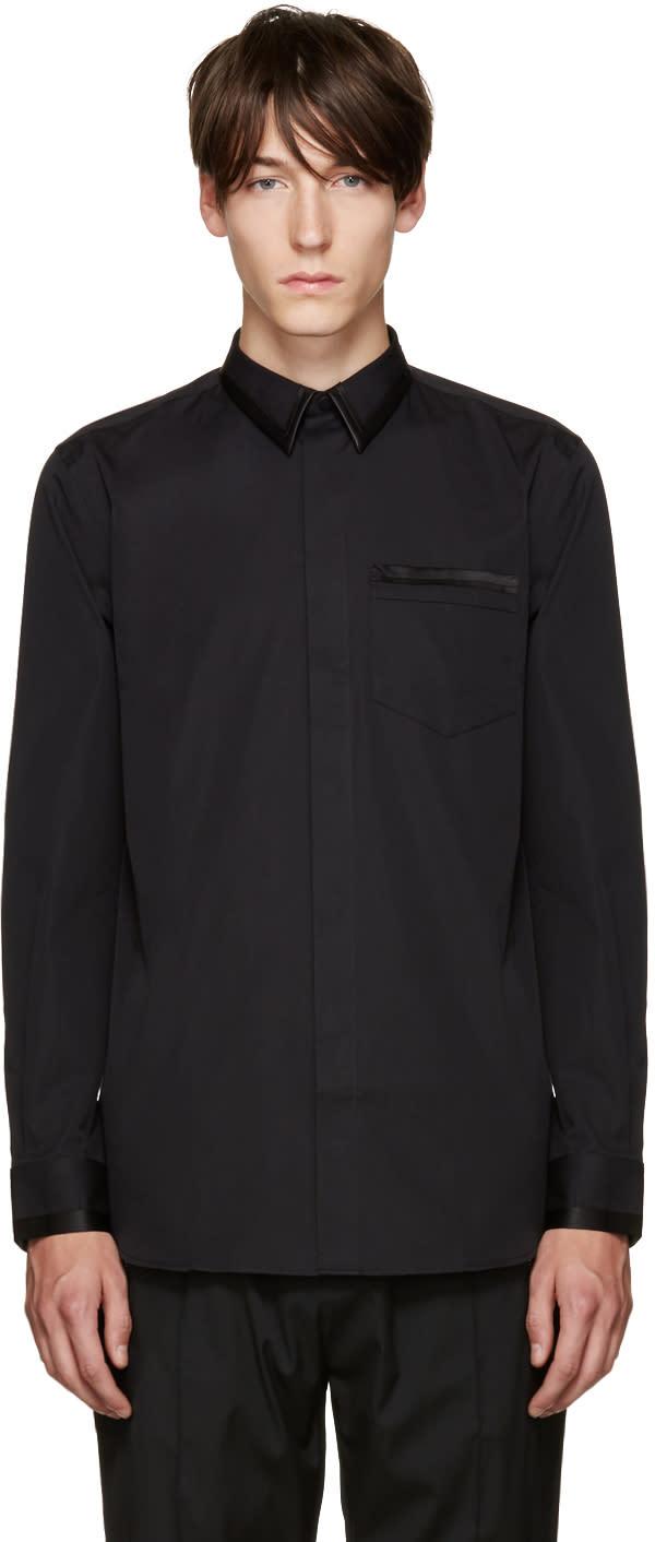 Givenchy Black Satin Trimmed Shirt