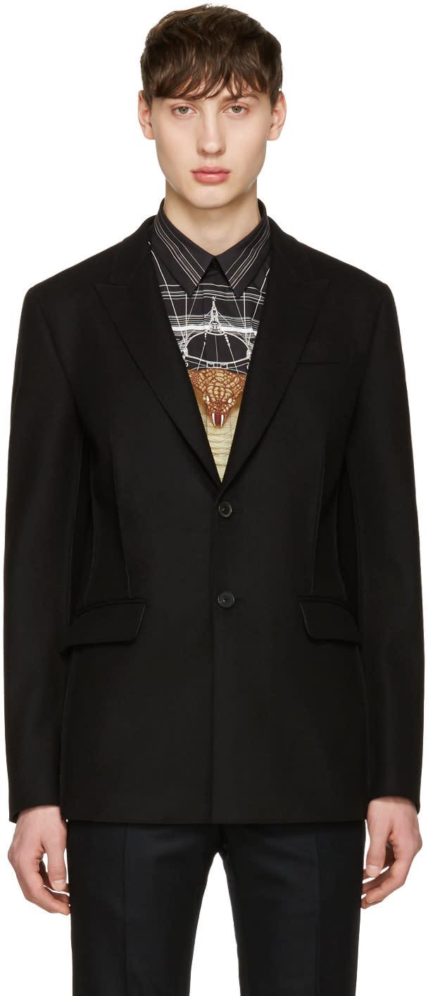 Givenchy Black Deconstructed Jacket