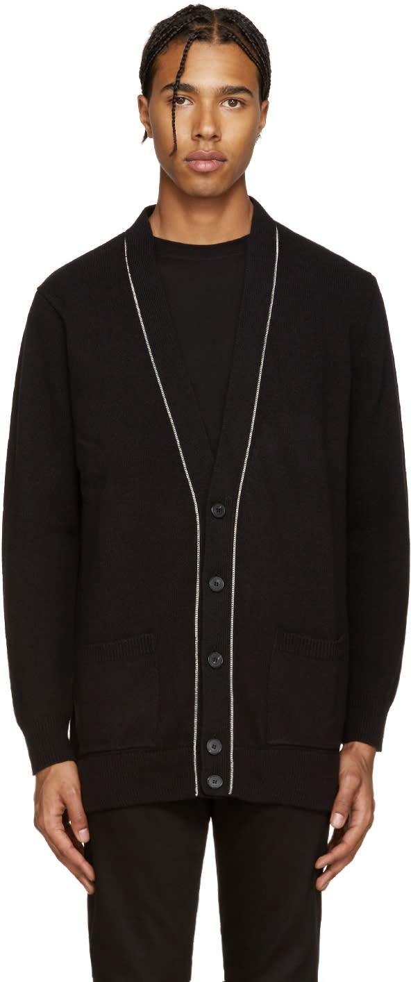Givenchy Black Wool Chain Cardigan