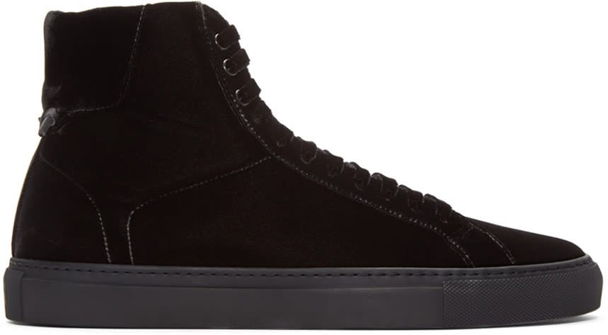 Givenchy Black Velvet Knots High-top Sneakers