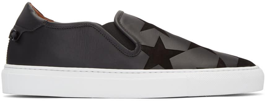 Givenchy Black Stars Street Skate Slip-on Sneakers