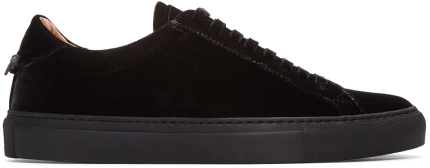 Givenchy Black Velvet Sneakers