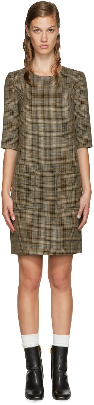 3.1 Phillip Lim Brown Glen Plaid Sack Dress