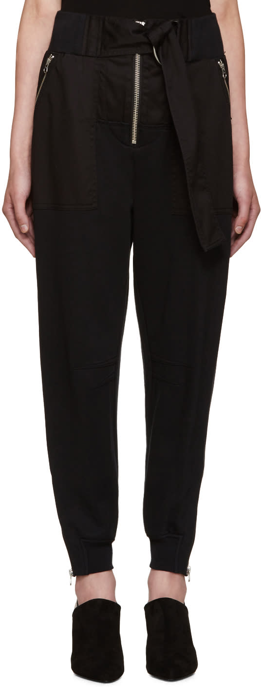 3.1 Phillip Lim Black Utility Lounge Pants