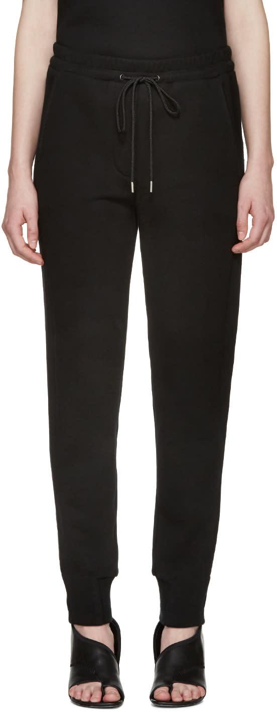 3.1 Phillip Lim Black French Terry Lounge Pants at ssense.com men and women fashion