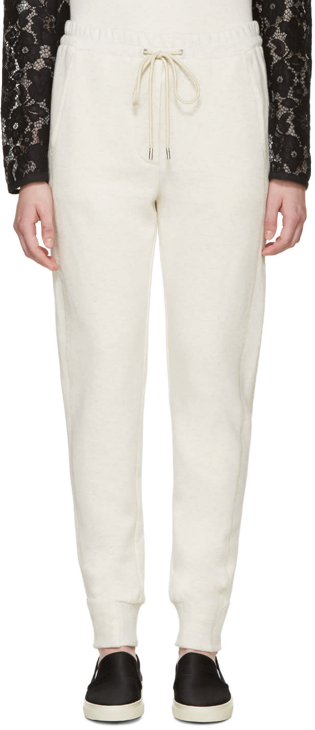 3.1 Phillip Lim Cream Melange Lounge Pants