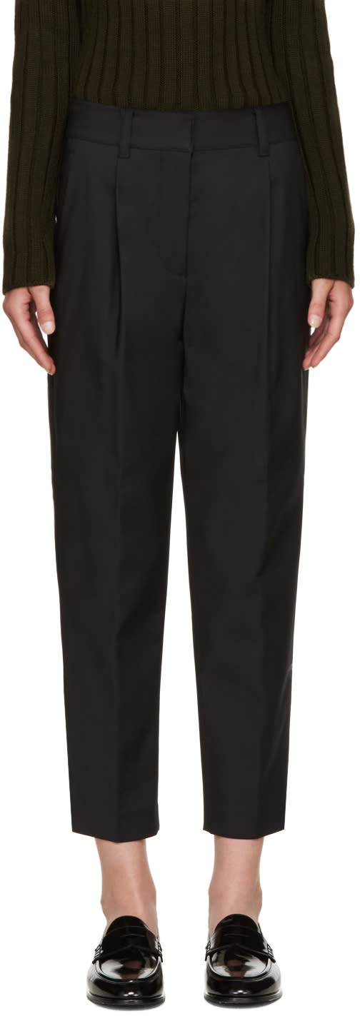 3.1 Phillip Lim Black Carrot Trousers
