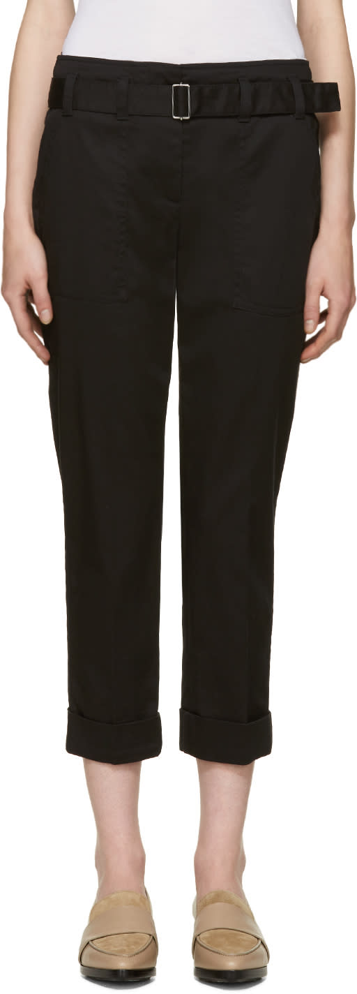 3.1 Phillip Lim Black Cropped Utility Trousers