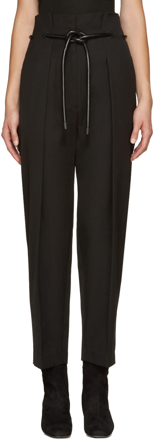 3.1 Phillip Lim Black Origami Trousers