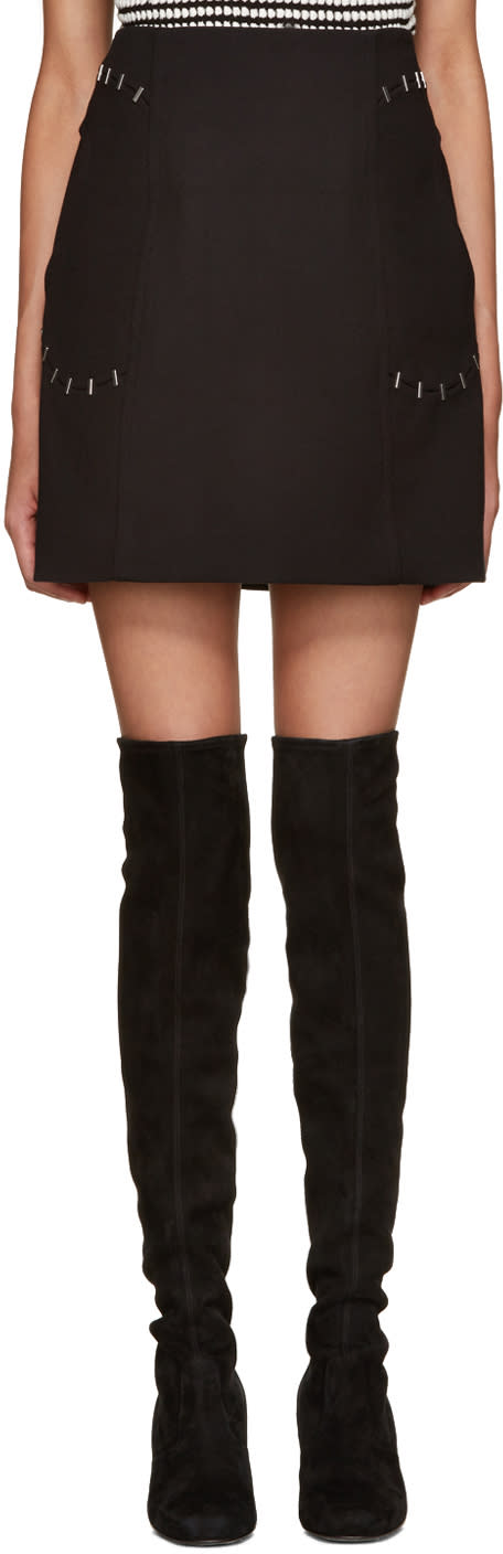 3.1 Phillip Lim Black Staple Pocket Miniskirt