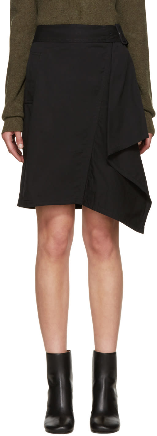 3.1 Phillip Lim Black Asymmetric Skirt