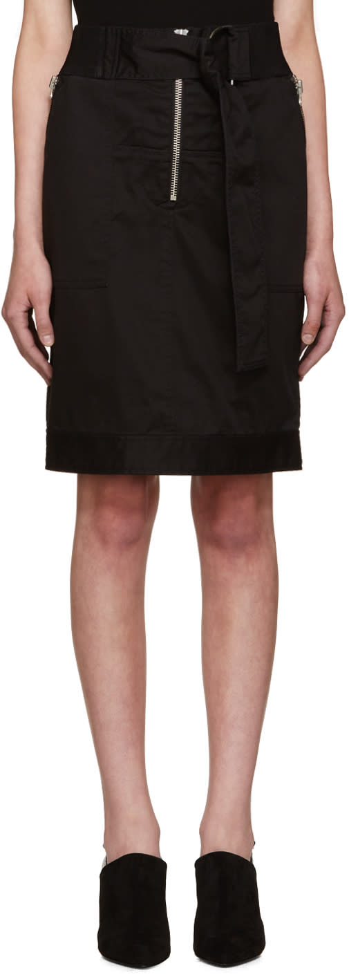3.1 Phillip Lim Black Belted Utility Skirt