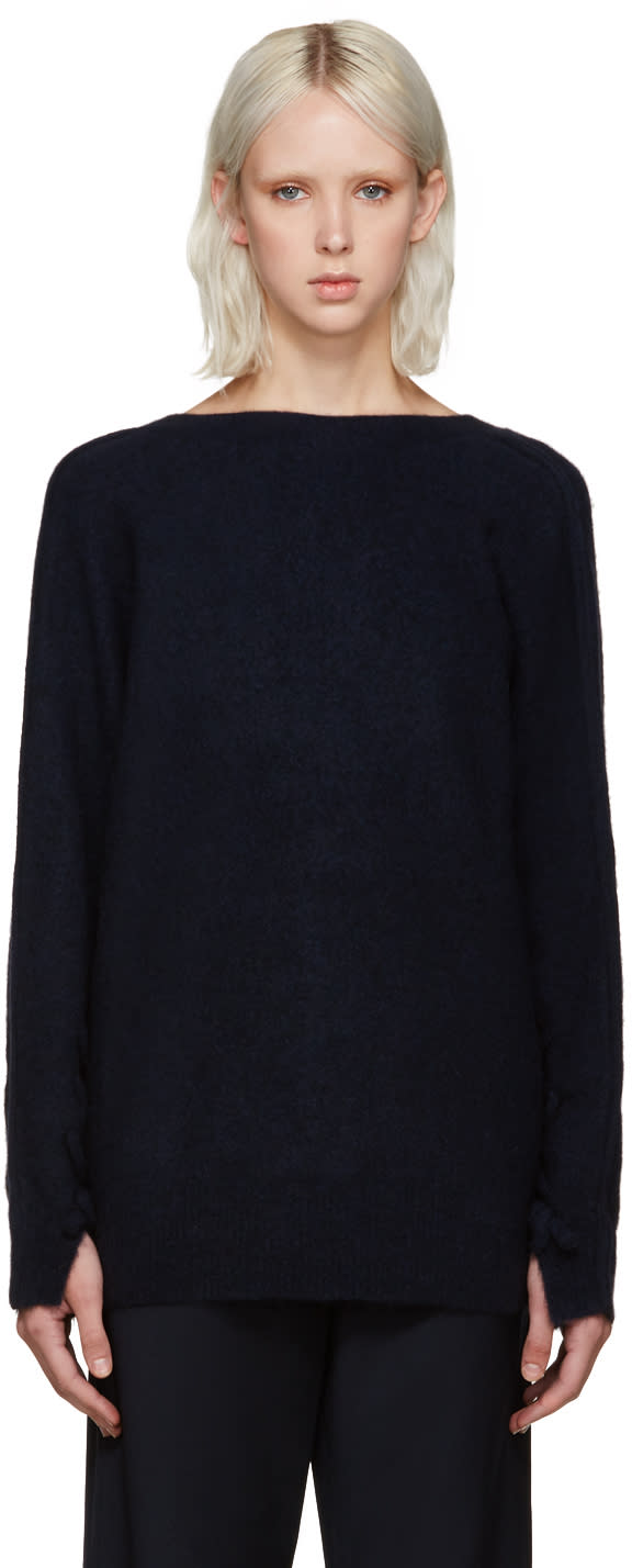 3.1 Phillip Lim Navy V-back Sweater