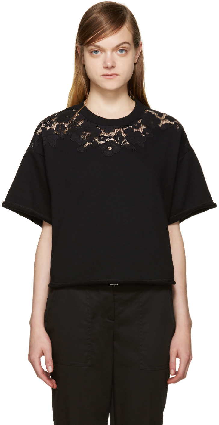 3.1 Phillip Lim Black Lace Pullover at ssense.com men and women fashion