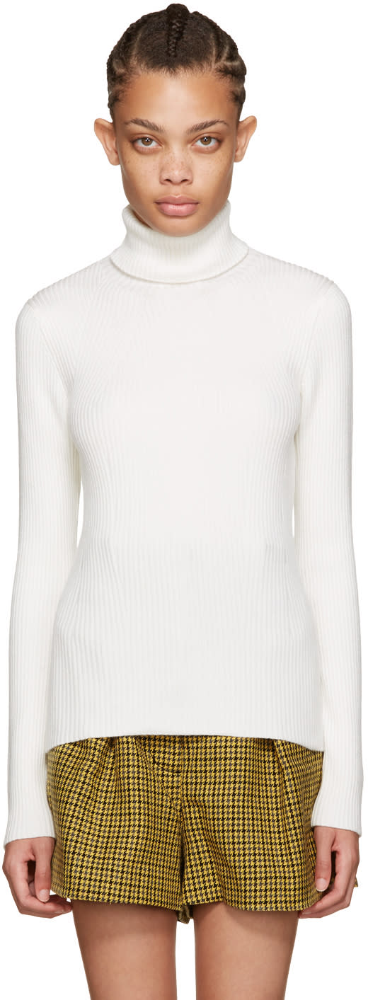 3.1 Phillip Lim Off-white Ribbed Turtleneck