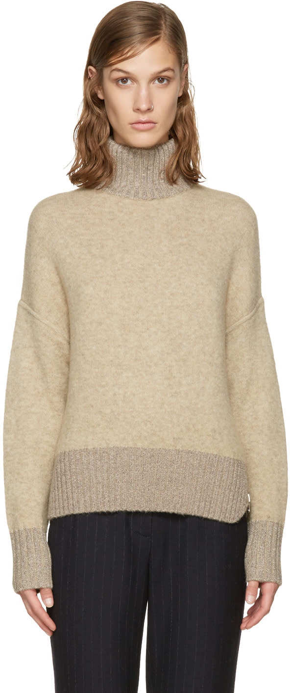 3.1 Phillip Lim Beige Cocoon Turtleneck