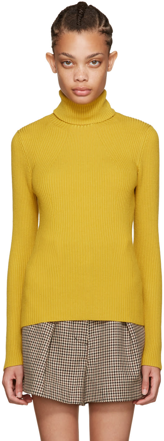 3.1 Phillip Lim Yellow Ribbed Turtleneck