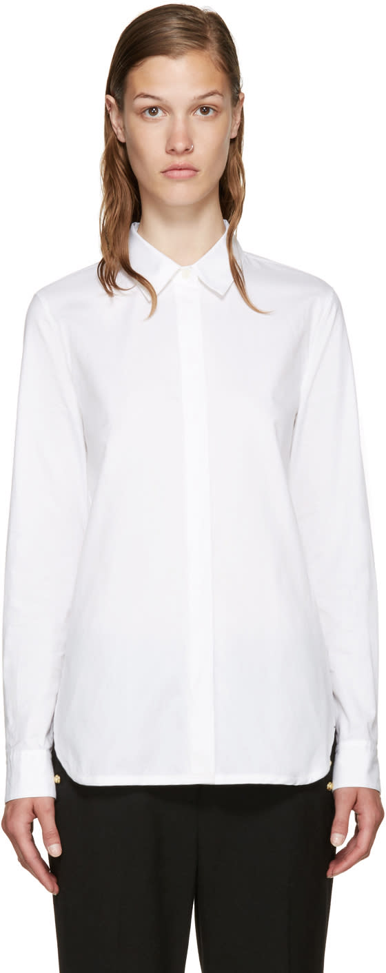 3.1 Phillip Lim White Back Overlay Shirt