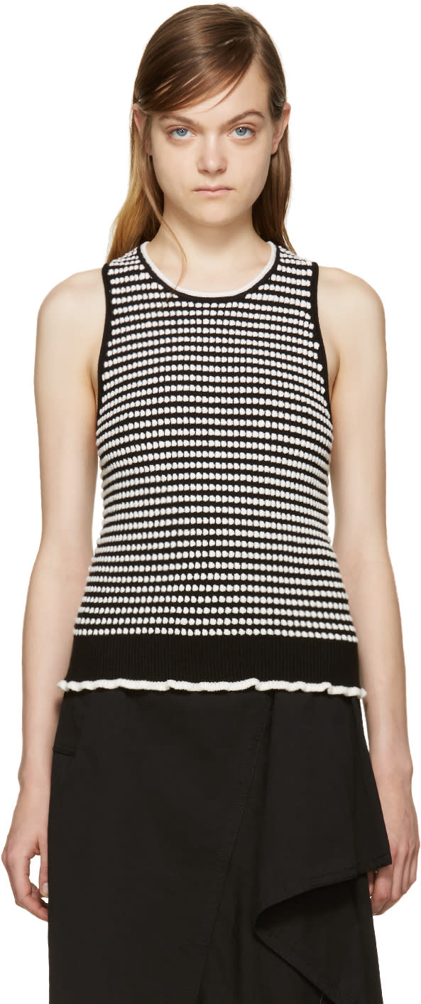 3.1 Phillip Lim Black and White Knit Top