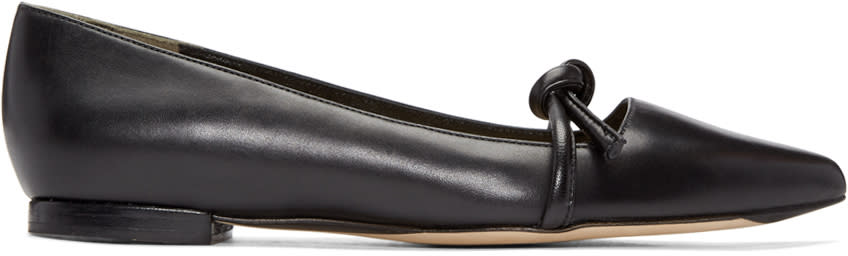 3.1 Phillip Lim Black Friendship Knot Martini Flats