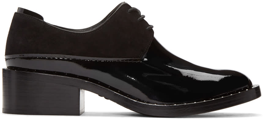 3.1 Phillip Lim Black Patent Leather Alexa Derbys