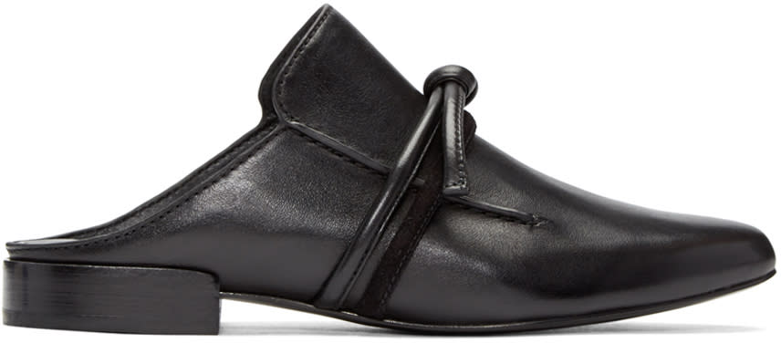 3.1 Phillip Lim Black Friendship Knot Louie Loafers