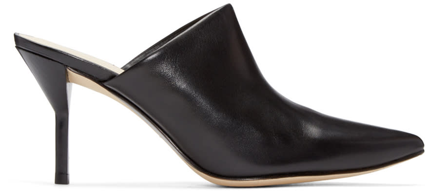 3.1 Phillip Lim Black Martini Mules