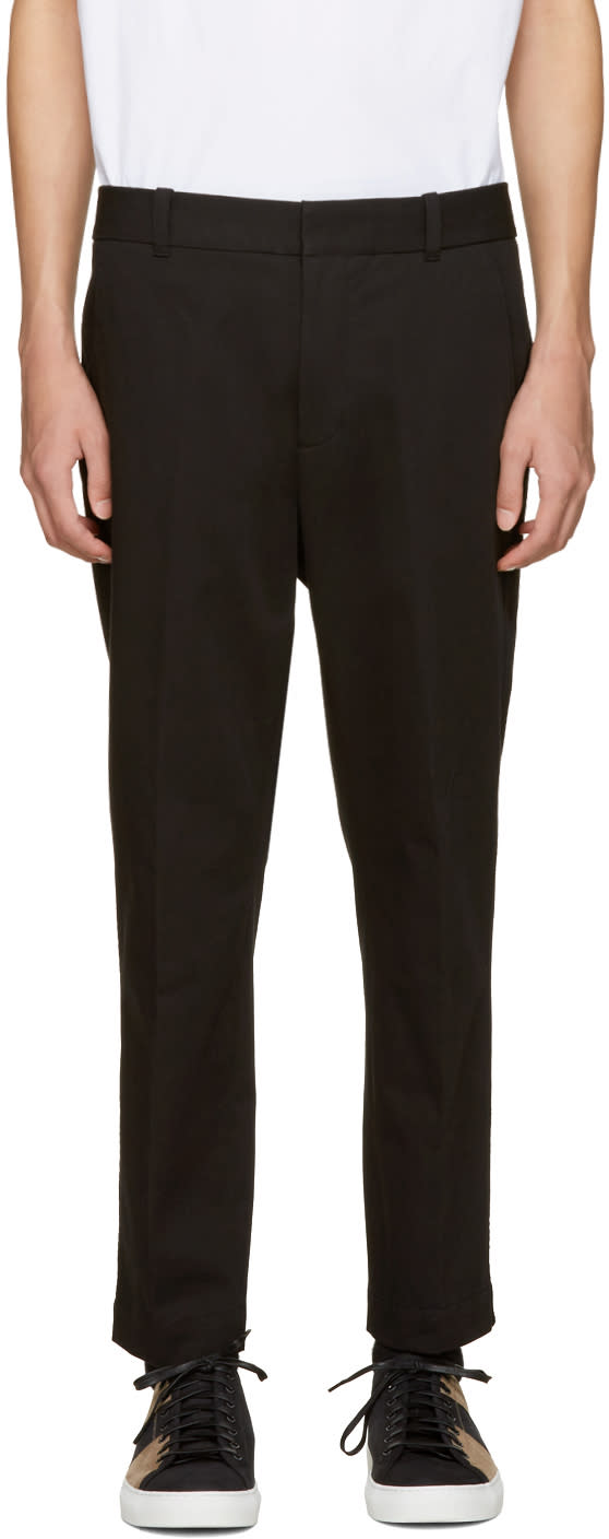 3.1 Phillip Lim Black Saddle Trousers