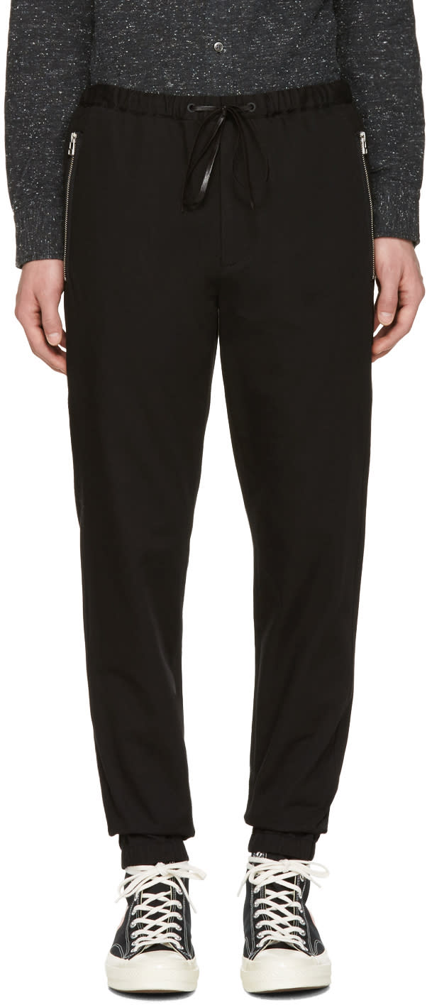 3.1 Phillip Lim Black Twill Track Trousers