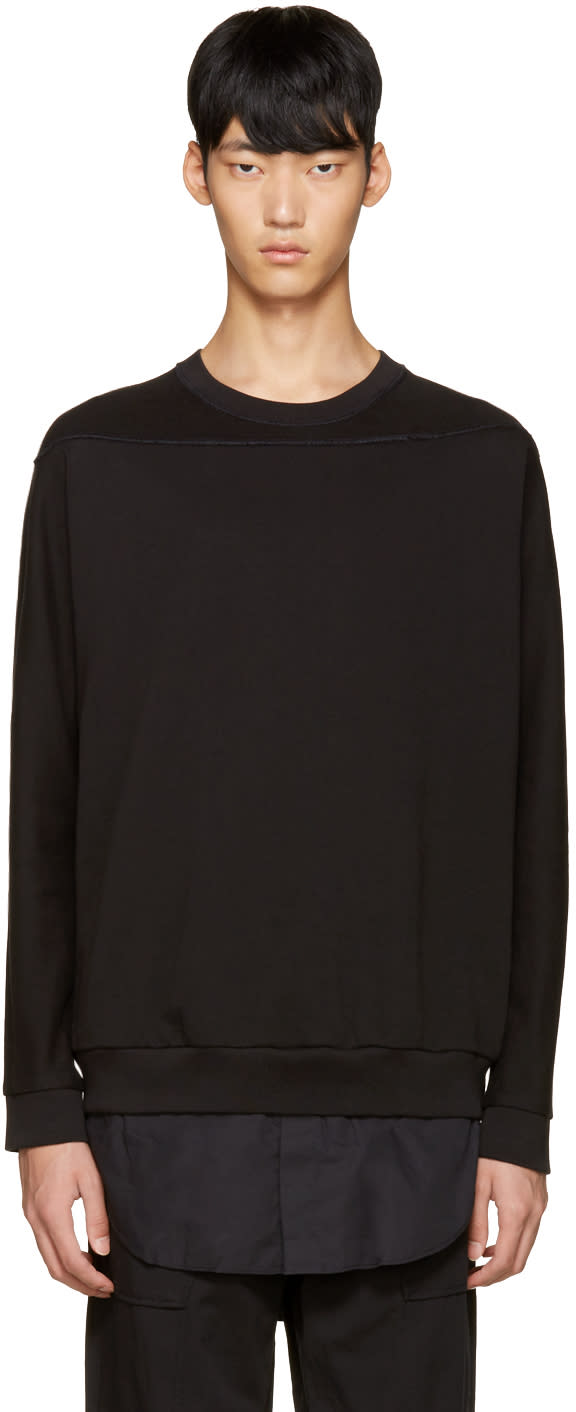 3.1 Phillip Lim Black Shirt-tail Pullover