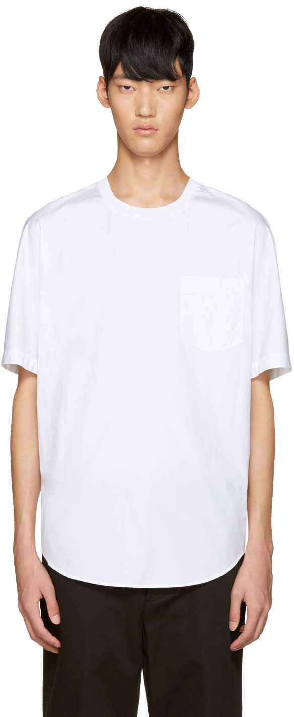 3.1 Phillip Lim White Poplin T-shirt