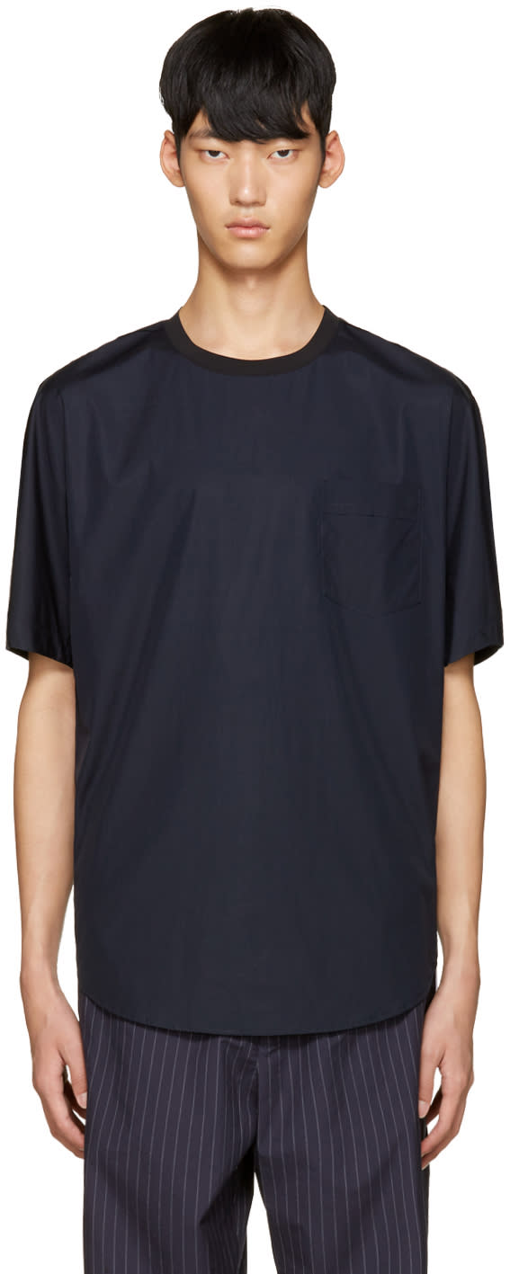 3.1 Phillip Lim Blue Poplin T-shirt