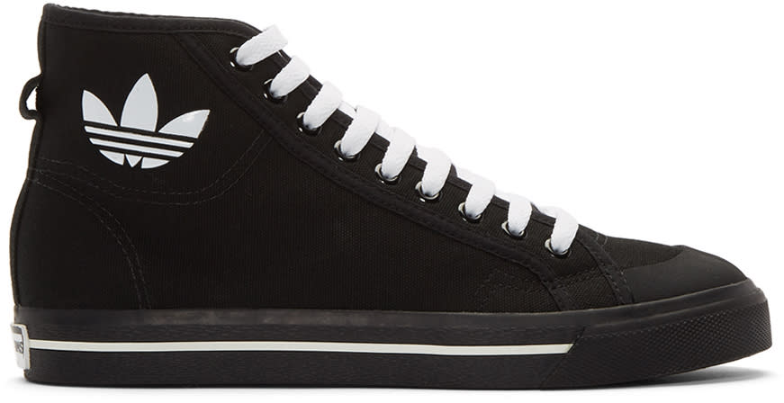 Raf-Simons-Black-Adidas-Edition-Matrix-Spirit-High-top-Sneakers
