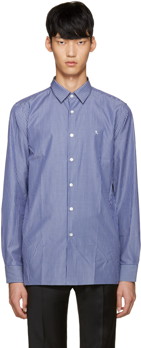 Raf Simons Navy Classic r Shirt
